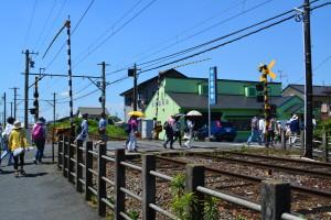筑電の駅周辺はノスタルジックな雰囲気