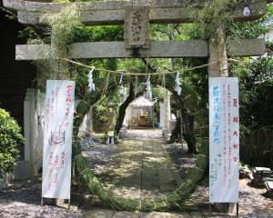 月瀬八幡宮の茅の輪(ちのわ)